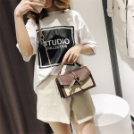 Leisure Fashion PU Leather Slant Shoulder Bag Handbag (Coffee)