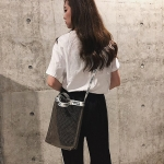Leisure Fashion Shoulder Bag Handbag (Black)