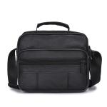 Leisure Fashion Top-grain Leather  Slant Shoulder Bag Handbag(Black)