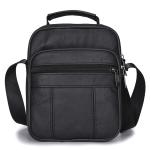 Leisure Fashion PU Slant Shoulder Bag Handbag (Black)