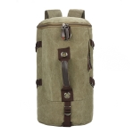 High Capacity Leisure Fashion Canvas Double Shoulders Hiking Bag Backpack (Army Green)