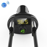 BT23 Wireless Car FM Transmitter QC 3.0 Quick Charge, Support USBx2 / Hands-free Calling (Black)