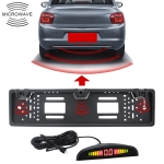 PZ300L Europe Car License Plate Frame Parking Sensors Reversing Radar with 3 Radar Detector