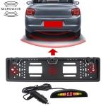 PZ300L-W Wireless Europe Car License Plate Frame Parking Sensors Reversing Radar with 3 Radar Detector