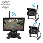 PZ-607-W1-2A Wireless Dual Cameras Rear View Camera Infrared Night Vision Rear View Parking Reversing System