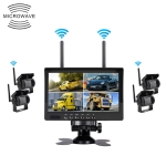 PZ607-W-D4 7.0 inch 2.4GHz Wireless Digital Audio and Video 4 Separate Reversing Car Monitor