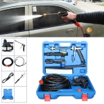 DC 12V Portable Double Pump + Brush High Pressure Outdoor Car Cigarette Lighter Washing Machine Vehicle Washing Tools, with Storage Box