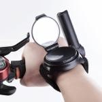 Bicycle 360 Degree Back Mirror Arm Wrist Strap Rear View Mirror