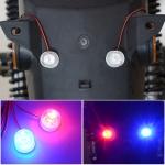 Car / Motorcycle 12 – 85V 1W Strobe Eagle Eye Light (Blue + Red)