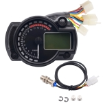 Motorcycle Modified Instrument Panel 12V LCD Display Adjustable Mile Oil Meter Water Temperature Meter Mileage 2-4 Cylinder