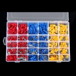 480 PCS Cold Press Electrical Insulated Terminals Crimp Connectors Assortment Kit