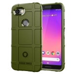 Full Coverage Shockproof TPU Case for Google Pixel 3 Lite (Army Green)