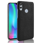 Shockproof Crocodile Texture PC + PU Case for Huawei Y7 (2019) (Black)