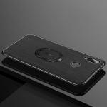 LONDOR Shockproof PC + TPU Case for Huawei P20 Lite / nova 3e, with Metal Holder (Black)