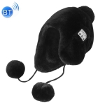 Bluetooth Warm Plush Hat, Supports Phone Answering & Bluetooth Photo Taking & Music Playing (Black)