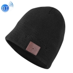 Bluetooth Warm Knit Hat, Supports Phone Answering & Bluetooth Photo Taking & Music Playing (Black)
