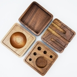 Wooden Multi-functional Offical Mini Lazy Bracket Phone Holder Pen holder Storage Box