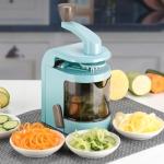 C327 Multifunctional Household Kitchen Spiral Vegetables Cutter (Blue)
