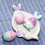 3 PCS Easter Bunny Eggs Ornament Holiday Decoration Children Toys, Random Color Delivery