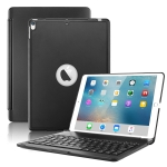 F105 Aluminum Alloy 7 Backlight iPad Case Hard Shell for iPad Pro 10.5 inch A1701 (2017) / A1709 (2017), with keyboard & bracket(Black)