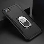 GKK Magnetic 360 Degree Rotation Ring Holder PC + TPU Armor Protective Case for iPhone 7 / 8 (Black)