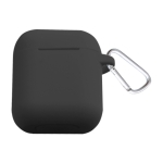 Bluetooth Thicken Cover Anti-drop Dust-proof Buckle Bluetooth Earphone Silicone Case for Airpods / Apple(Black)
