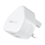 TOTUDESIGN Pure Series CACA-010 DC 5V-2.1A Dual USB Interface Travel Charger, UK Plug