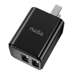 TOTUDESIGN Yin Series AC17 DC 5V-2.4A Dual USB Interface Travel Charger, Chinese Plug(Black)
