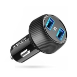 ANKER A2212 24W 5V / 2.4A PowerDrive 2 Elite Dual USB Car Charger Fast Charging(Black)