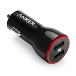ANKER PowerDrive 2 24W 4.8A Dual USB Car Charger Fast Charging(Black)