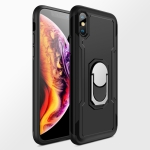 GKK Magnetic 360 Degree Rotation Ring Holder PC + TPU Armor Case for iPhone X(Black)