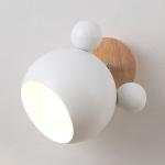 Creative Cartoon E27 LED Warm White Light Wall Lamp for Bedside Passage (White)