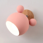 Creative Cartoon E27 LED White Light Wall Lamp for Bedside Passage (Pink)