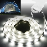 2m 80 SMD2835 LEDs 150LM USB LED Strip Light for Camping Tent, IP65 Waterproof DC 5V (White Light)
