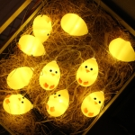 Cute Yellow Chicken Type 1.5m 10 LEDs Battery Decorative Lamp Easter Holiday Household Party Decorative Light(Warm White)