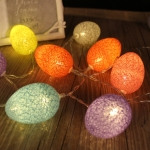 Battery Powered 1.8m 10 LEDs Cotton Thread Colour Egg Lamp String Easter Holiday Party Household Decorative Light(Colorful Light)
