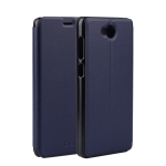 CUBOT Spring Texture Horizontal Flip Leather Case for CUBOT A5 with Holder (Dark Blue)