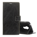 Retro Crazy Horse Texture Horizontal Flip Leather Case for Motorola Moto G7 Power, with Holder & Card Slots & Wallet & Photo Frame (Black)