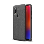 Litchi Texture TPU Shockproof Case for Motorola P40 (Black)