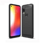Brushed Texture Carbon Fiber TPU Case for Motorola P40 (Black)
