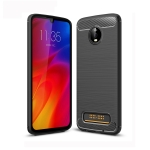 Brushed Texture Carbon Fiber TPU Case for Motorola Moto Z4 Play (Black)