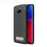 Litchi Texture TPU Shockproof Case for Motorola Moto Z4 Play (Black)