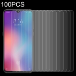 100 PCS 0.26mm 9H 2.5D Tempered Glass Film for Xiaomi Mi 9