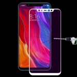 Ultra Thin 9H 3D Anti Blue-ray Full Screen Carbon Fiber Tempered Glass Film for Xiaomi Mi 8(White)