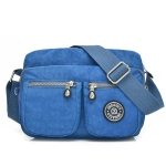 Leisure Fashion Nylon Waterproof Slant Shoulder Bag(Aqua Blue)