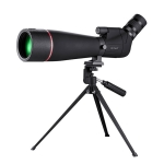 HTK-72 20x-60x High Definition Night Vision Zoom Monocular Telescope for Outdoor Camping Birdwatching with Tripod (Black)