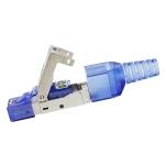 Tool-free Assembly RJ-45 Connector Modular Plug, STP Cat7 10 Gigabit Shielding(Blue)