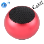 Mini Metal Wireless Bluetooth Speaker,  Hands-free, LED Indicator(Red)