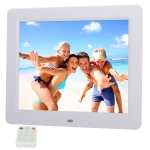 10.1 inch LED Display Multi-media Music & Movie Player Digital Photo Frame with Remote Control, Allwinner E200s Program, Support USB-Disk / SD Card, Built in Stereo Speaker(White)