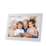 13 inch LED Digital Photo Frame with Remote Control, MP3 / MP4 / Movie Player, Support USB / SD Card Input, Built in Stereo Speaker(Silver)